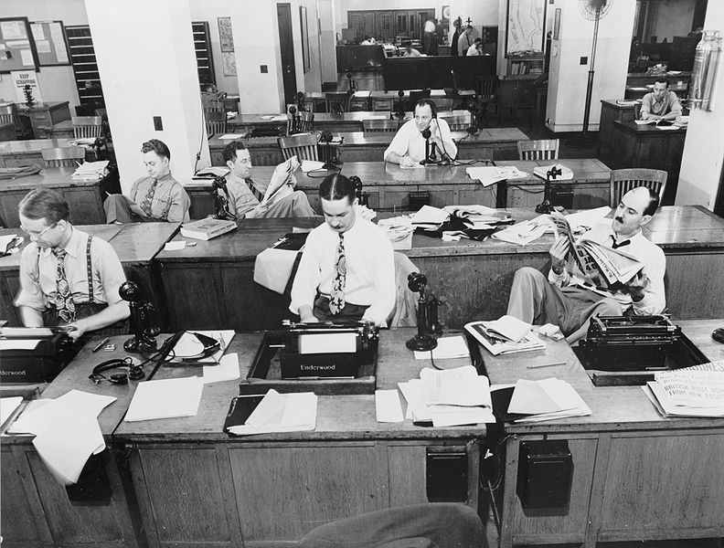 The New York Times's newsroom in 1942