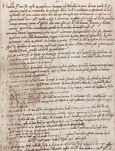Leonardo da Vinci's resume, in his own hand.